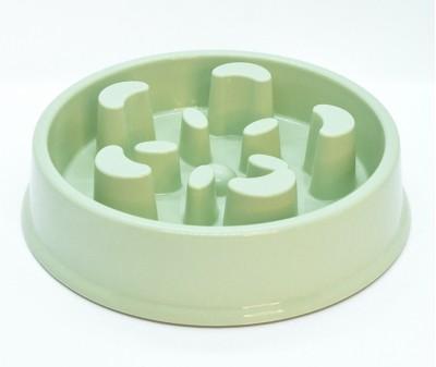 Миска лабиринт Slow Eat для медленного кормления, оливковая №2