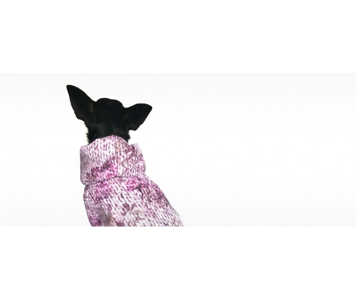 Куртка  с воротником | розовая