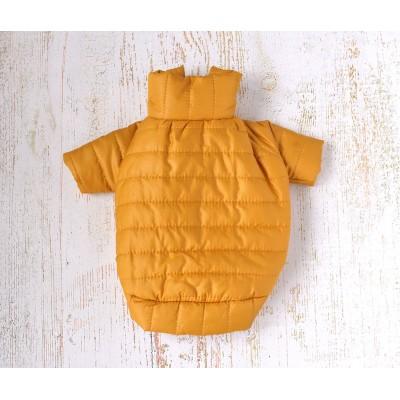 """Куртка для маленьких собак """"Спорт"""" горчичная / S"""
