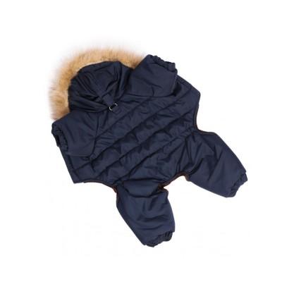 Комбинезон для собак  зимний / синий  - S-M