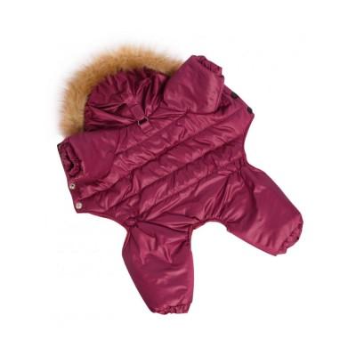 Комбинезон для собак  зимний / бордо - S
