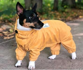 Дождевик - грязевик для собак, желт...