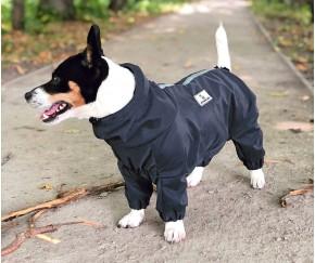 Дождевик - грязевик для собак, черн...