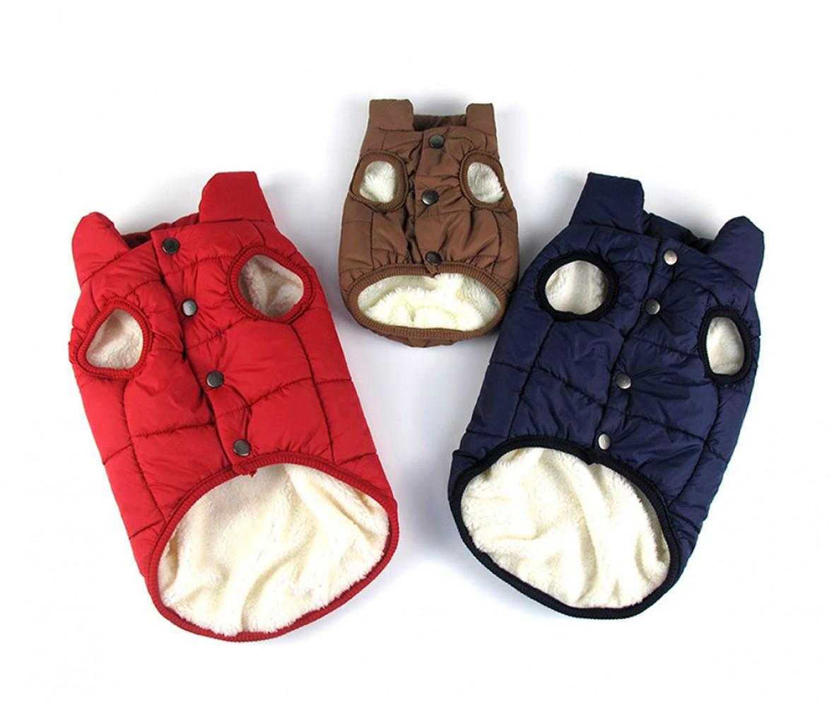 Куртка жилетка для собак зимняя, красная / S-XXL