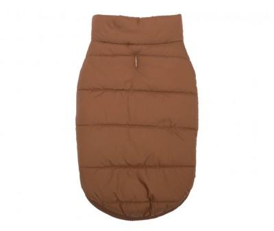 Куртка жилетка для собак зимняя, кофейная / S-XXL