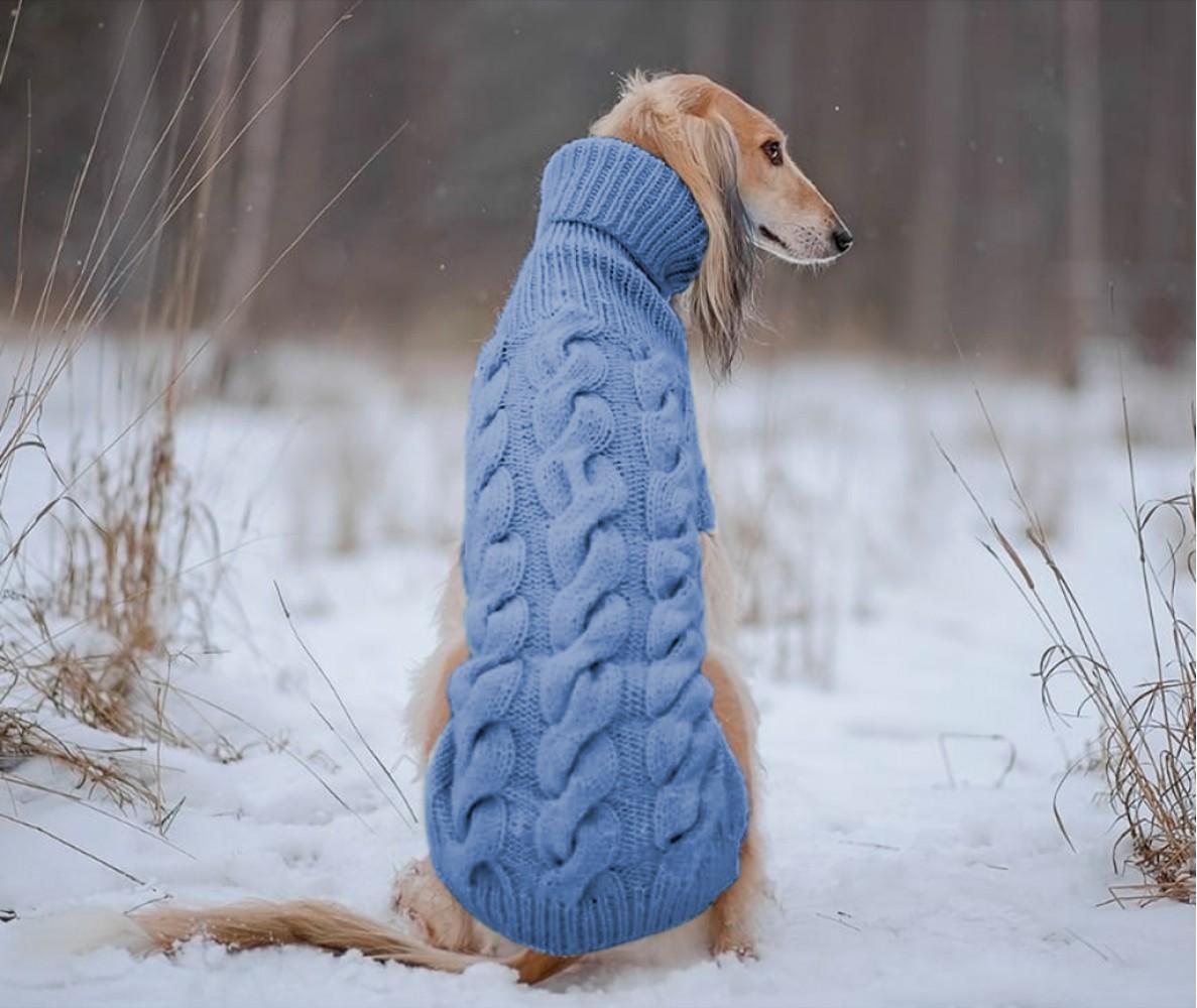 """Свитер для большой собаки """"Lori"""" (на заказ)    голубой №26"""