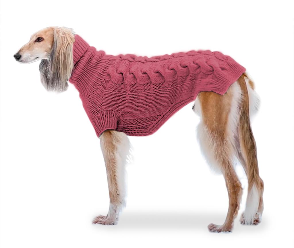 """Свитер для большой собаки """"Lori"""" (на заказ)    коралловый №32"""