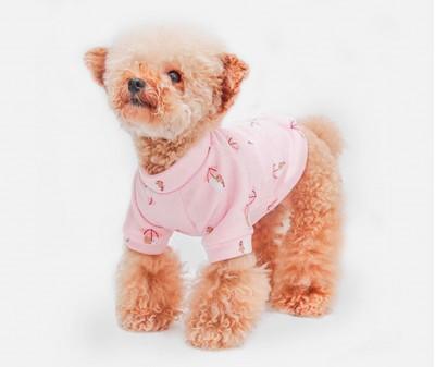 """Толстовка для собак """"Зонтики"""" , розовая"""