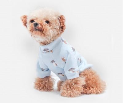 """Толстовка для собак """"Зонтики"""" , голубая"""