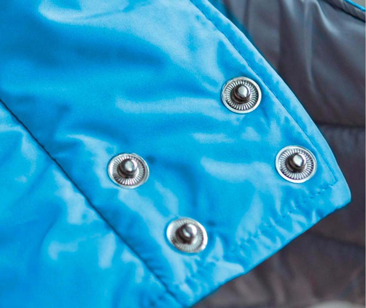 Теплый жилет Active голубой | S