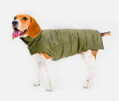 Теплый жилет Active хаки для большой собаки| L