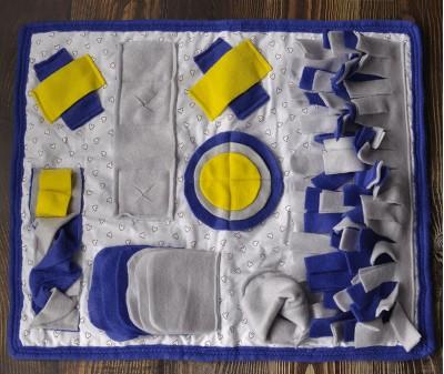 Умный плед  сине-желтый | 40*60 см