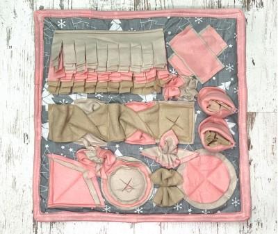 Нюхательный коврик, серо-розовый | 50*50 см