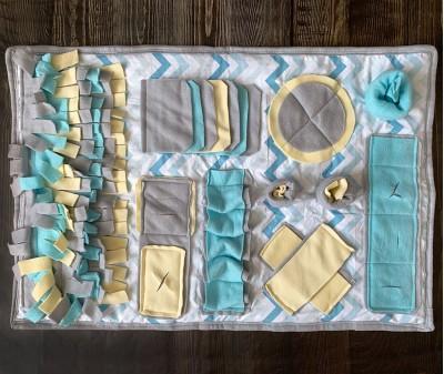 Нюхательный коврик  желто-голубой | 55*80 см