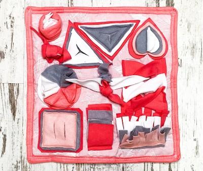Нюхательный коврик розовый | 45*45 см