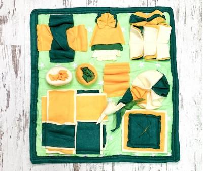 Нюхательный коврик зелено-желт| 47*47 см