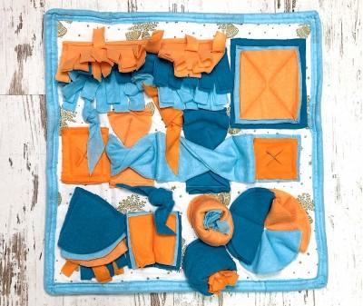 Нюхательный коврик, сине-оранж | 50*50 см