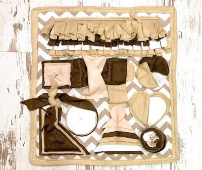 Нюхательный коврик бежев, мод.1 | 50*46 см