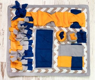 Нюхательный коврик сине-желт | 50*43 см