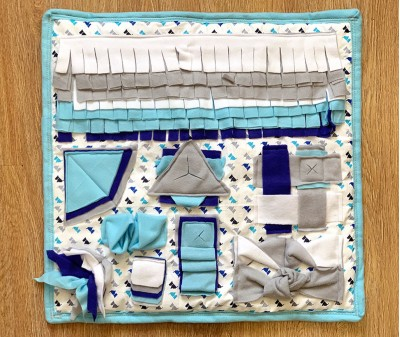 Нюхательный коврик сине-голубой, мод.1 | 55*55 см
