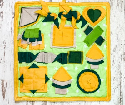 Нюхательный коврик желтый |  52*49 см