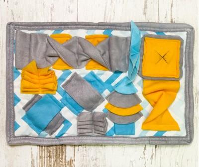 Нюхательный коврик MINIK, желто-голубой | 46*29 см