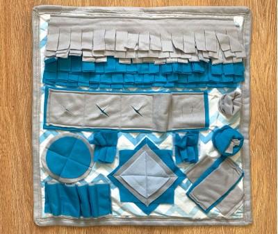 Нюхательный коврик лазурный, мод.2 | 55*55 см