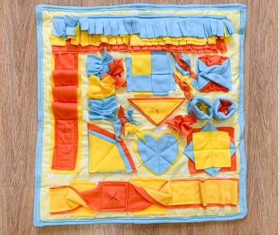 Нюхательный коврик желтый | 65*65 см