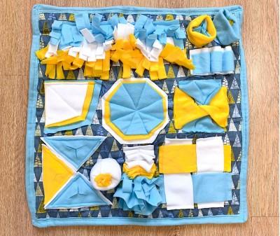 Нюхательный коврик сине-желтый   58*58 см