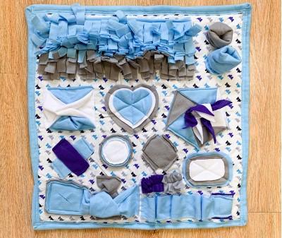 Нюхательный плед сине-голубой, мод.3   60*60 см