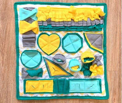 Нюхательный коврик зелено-желтый | 55*55 см