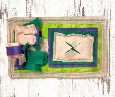 Нюхательный коврик Mini, зеленый   30*18 см