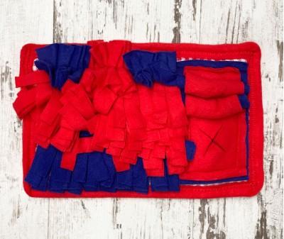 Нюхательный коврик красно-синий   30*20 см