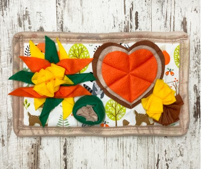 Нюхательный коврик Mini оранж-зелен   36*21 см