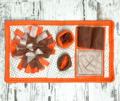 Нюхательный коврик Mini, оранж.-коричн. мод 1  46*26 см