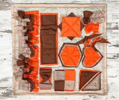 Нюхательный коврик  оранж-корич, мод 2  60*60 см