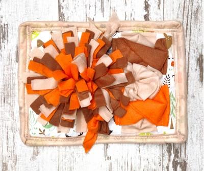 Нюхательный коврик Mini, оранжево-коричн.  мод 2  30*23 см