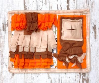 Нюхательный коврик Mini оранж-коричн - мод.3   30*24 см