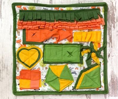 Нюхательный коврик зелено-оранж |  50*50 см