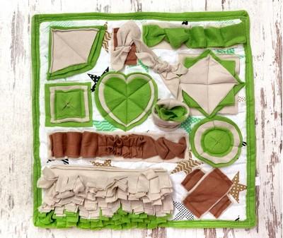 Нюхательный коврик оливковый | 50*50 см