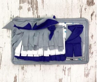 Нюхательный коврик MINIK,  синий | 28*18 см