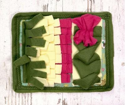 Нюхательный коврик MINIK, зелен-малин| 23*20 см