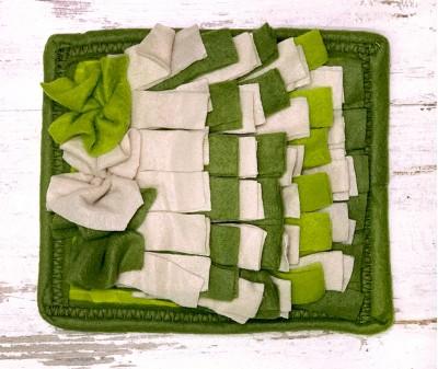 Нюхательный коврик MINIK оливковый | 20*18