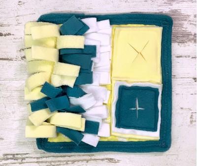 Нюхательный коврик MINIK, сине-желт  | 21*21 см