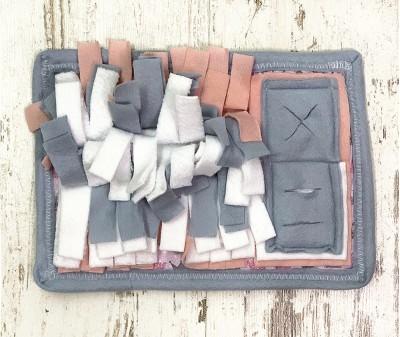 Нюхательный коврик MINIK, серо-розов| 28*20 см