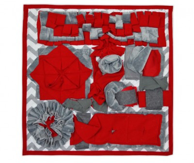 Нюхательный коврик 50*50 /  красный, мод 2