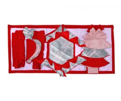 Нюхательный коврик 50*23 /  красный, мод 2