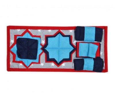 Нюхательный коврик 50*23 /  красно-синий