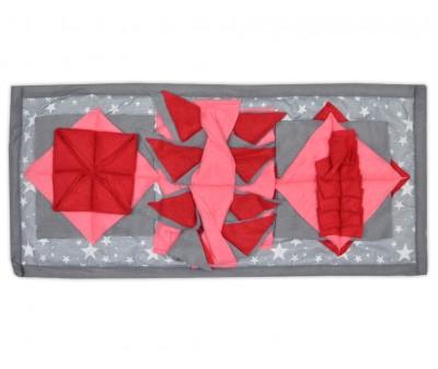 Нюхательный коврик 50*23 /  серо-розовый, мод 1