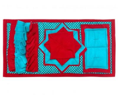 Нюхательный коврик 47*24 / красный, мод 5